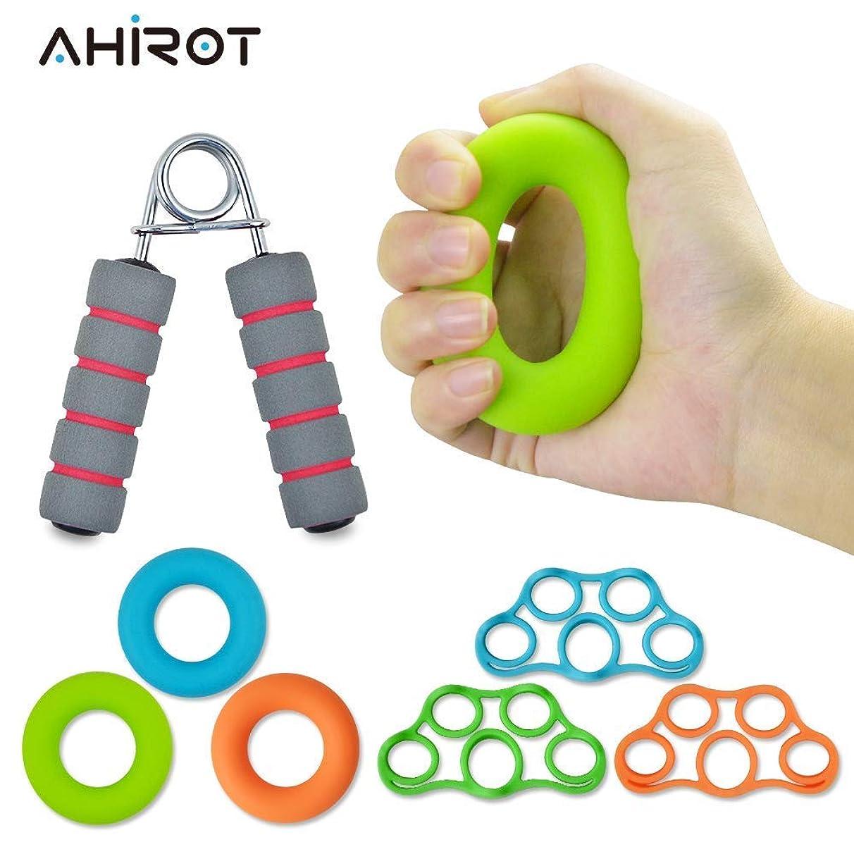 AHIROT Hand Grip Strengthener Forearm Grip Workout Kit Adjustable Hand Gripper Finger Exerciser Equipment Finger Strengthener