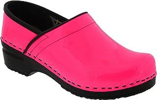 Bjork Professional Elsa Neon Pink (Ltd. Edition) Patent Leather Clogs