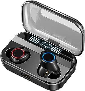 【2019令和最新版 LED電量表示 Bluetooth5.0 イヤホン 240時間連続駆動】Bluetooth イヤホン ワイヤレス イヤホン IPX7完全防水 電池残量インジケーター付き イヤホン Hi-Fi 高音質 AAC対応 最新bluetooth 5.0+EDR搭載 完全ワイヤレスイヤホン 左右分離型 自動ペアリング 音量調節可能 技適認証済/Siri対応/ iPhone & Android対応 ブラック