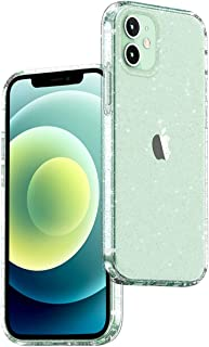 UGREEN Crystal Glitter Case compatible for Apple iPhone 12/12 Pro Clear Cover Protective Ultra Thin Slim Case Crystal Tran...