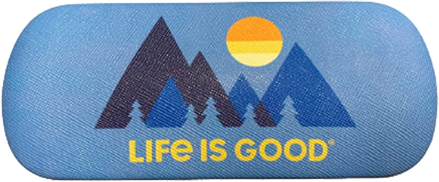 Life is Good Readers Clamshell Eyeglass Case, Mountain Blue