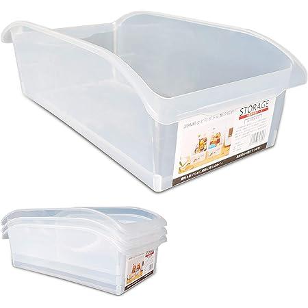 KEPEAK 4pcs Récipient de Réfrigérateur, Boîte de Rangement en Plastique Multifonctionnelle, Organisateur de Nourriture/Légumes/Fruits pour Frigo, Fond Antidérapant