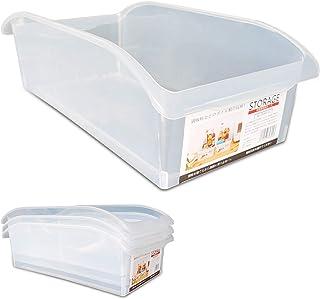 KEPEAK 4pcs Récipient de Réfrigérateur, Boîte de Rangement en Plastique Multifonctionnelle, Organisateur de Nourriture/Lég...