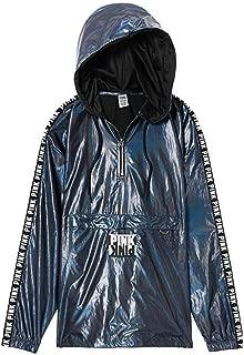 Victoria's Secret Pink New! Anorak Sport Jacket Color Iridescent Black XSmall/Small NWT