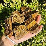 Zenkeeper 1Lb Natural Raw Tiger Eyes Crystal Stone,Rough Tiger Eye Gemstone,Gold Tiger Eyes Rocks for Crystal Healing Meditation Reiki Stone