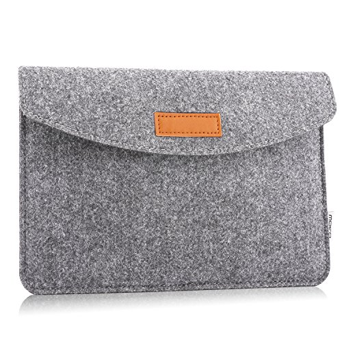 MoKo 7-8 Inch Sleeve Bag, Portable Carrying Protective Felt Tablet Case Cover Fits iPad Mini (5th Gen) 7.9' 2019, iPad mini 1/2/3/4, Samsung Galaxy Tab S2 8.0, Tab A 8.0, ZenPad Z8s 7.9 - Light Gray