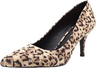 Cambridge Select Women's Slip-On Closed Pointed Toe Mid Height Stiletto Heel Pump