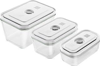 ZWILLING Set de 3 boîtes sous-vide - verre - rectangulaire - S/M/L
