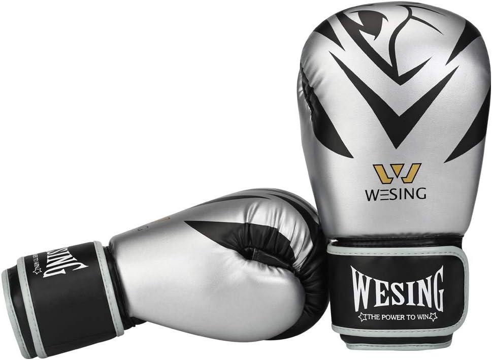 Wesing Leopard Eyes On Boxing Gloves for Men Bagwork Exercise Muaythai Training Gloves 8-16OZ