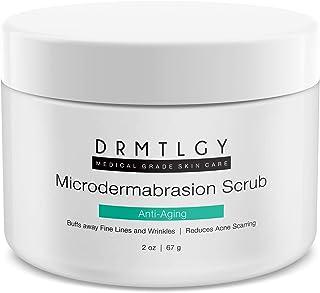 DRMTLGY Microdermabrasion Facial Scrub and Face Exfoliator. Natural Non-Abrasive Face Exfoliator Improves Acne Scars, Blac...