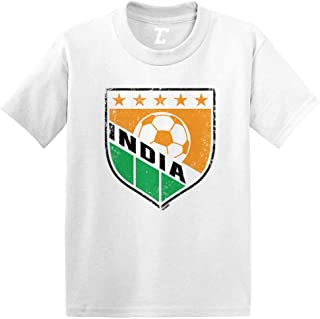 India Soccer - Distressed Badge Infant/Toddler Cotton Jersey T-Shirt