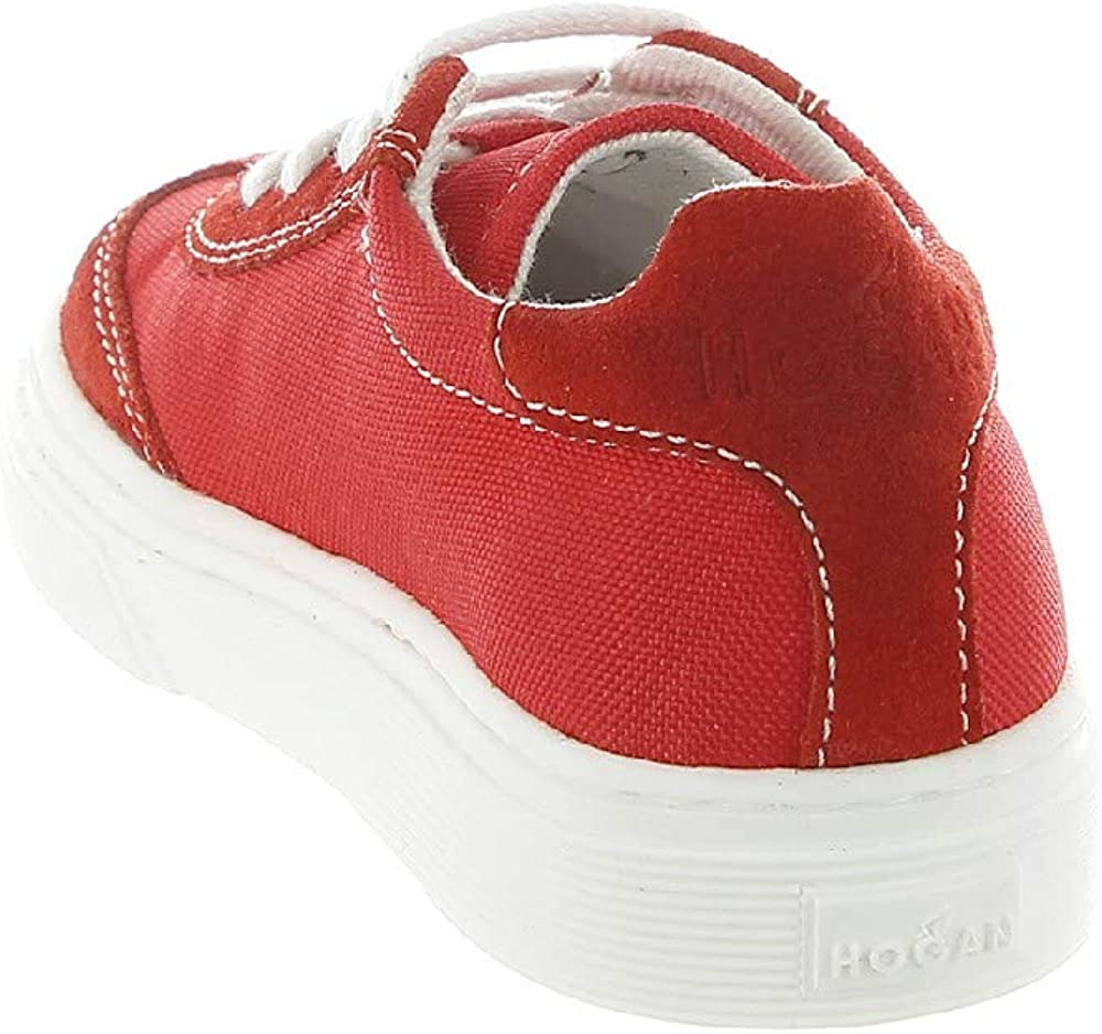 Hogan , scarpe sneakers per bambina/ragazza ,  in camoscio e tela HXT3400BL80KNKR001