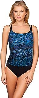 Miraclesuit Blue Purr-Fection Long Torso Fauxkini One Piece Swimsuit Size 10L