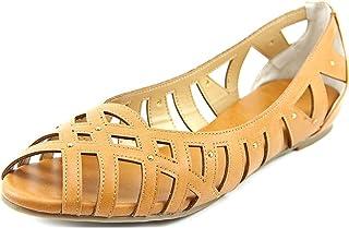 a466104dc20c Thalia Sodi Zuly Women US 11 Bronze Peep Toe Flats