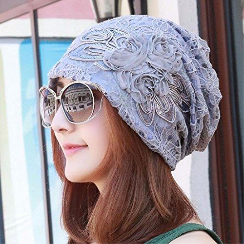 XINQING-mz Sombrero, verano, arco, bufanda, sombrero, cordones, huecos, sombreros de las mujeres, acondicionadores de aire y a prueba de polvo de sombreros de las mujeres,Azul