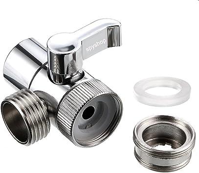 Amazon Com Faucet Sink Valve Brass Sink Valve Diverter Faucet Splitter For Kitchen Or Bathroom Sink Faucet Replacement Part Faucet To Hose Adapter M22 X M24 Polished Chrome Pv10 Tools Home Improvement