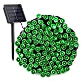Toodour Solar Green String Lights, 72ft 200 LED 8 Modes Outdoor String Lights, Waterproof...