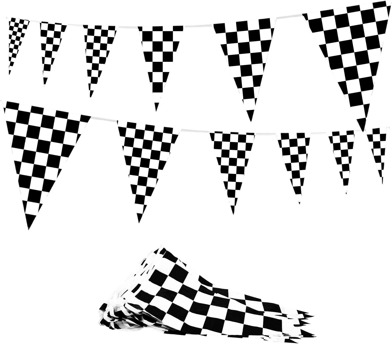 Max 72% OFF Novelty Place 100 Regular dealer Feet Checkered Pennant Banner Flags 12