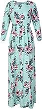 Pxmoda Womens Summer Short Sleeve Long Dress Floral Pleated Spring Empire Maxi Dress