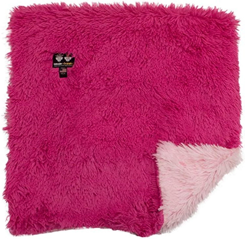 BESSIE AND BARNIE Bubble Gum Lollipop Luxury Shag Ultra Plush Faux Fur Pet, Dog, Cat, Puppy Super Soft Reversible Blanket (Multiple Sizes)