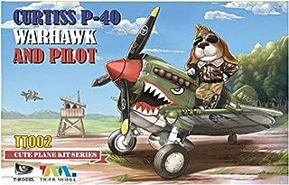 ティーモデル キュートファイターシリーズ P-40ウォーホーク with 犬パイロットフィギュア プラモデル TMOTT002 / TIGTT002 Tiger Model Cute Plane Series - Curtiss P-40 Warhawk and Pilot [Model Building KIT]