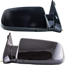 Driver and Passenger Side Mirrors Manual Operated for 92-94 Chevy Blazer, 92-99 Suburban, 92-2000 GMC Yukon, 95-2000 Tahoe, 88-98 C1500 C2500 C3500