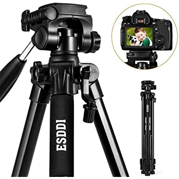ESDDI Kamera Stativ Aluminiumlegierung Stativ Kompakt Leichtes Stativ 170cm/67inches für Smartphone DSLR SLR Canon Nikon Sony Olympus mit Handy Halterung Tragetasche