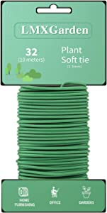 Green Soft Garden Wire Twist Tie (32.8FT/10 Meters), Plant Ties, Used for Auxiliary Plants, Office and Home Storage