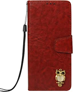 SEYCPHE Case for Huawei Honor 7A Pro,Collection Premium Leather Magnetic Closure Full Protection Wallet Flip with Card Slots Kickstand Cover for Huawei Honor 7A Pro - Brown Owl