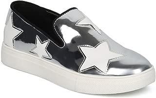 Women Stars Applique Slip On Low Top Sneaker HE23