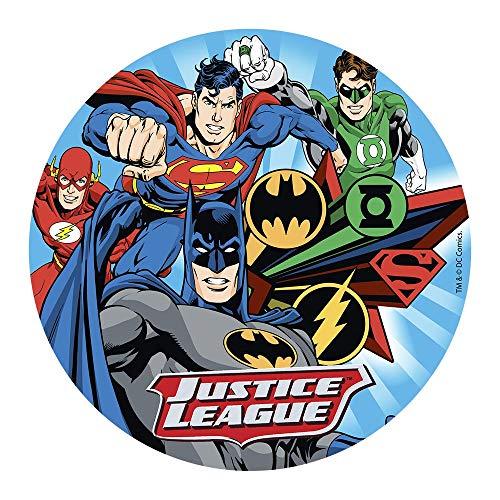 Dekora 160137 DC Justice League Tortenaufleger aus Esspapier, 20 cm