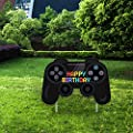 Video Game Happy Birthday Yard Sign - Video Game Shape Lawn Signs with Stakes for Boys and Girls - Special Yard Decorations for a Colorful Outdoor Birthday Party