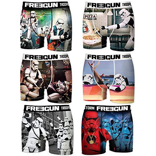 FREEGUN Boxershort Pack of 6 Herren Star Wars Dark Vador Stormtrooper (L, Stormtrooper 01)