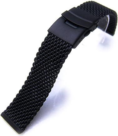 valtava valikoima Outlet myymälä paras online Strapcode @ Amazon.com: 24mm Mesh Band