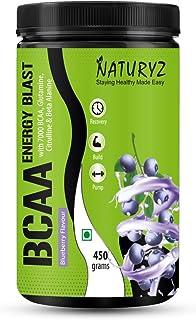 MA Group Naturyz Instantized BCAA Energy Blast with 7000 BCAA, Glutamine, Citrulline & Beta Alanine (Blueberry Mojito Flav...