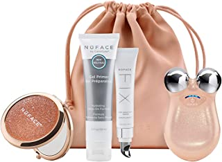 NuFACE Mini Petite Facial Toning Device, Shimmer All Night Collection, Mini Device + Microcurrent Skincare Regimen, Handheld Skin Care Device to Lift Contour Tone Skin + Reduce Look of Wrinkles