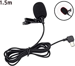 Vbestlife Lavalier microphone  1 5M omnidirectional handsfree Lavalier clip lapel microphone clip microphone for SJCAM SJ6 SJ7 SJ360 Action Camera