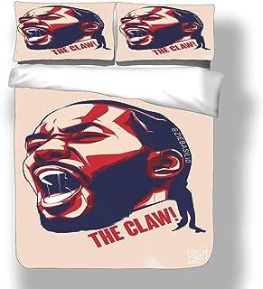 Juego de funda nórdica Kawhi Los Angeles Basketball Player 2 ropa de cama Fun Guy Leonard Clippers Super Star Eat Up The Clock Colcha de tres puntos con 2 fundas de almohada FMVP San Antonio Toronto S