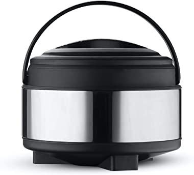 Oliveware Glory Insulated Casserole | High Grade Stainless Steel | Insulated | Steel Interior | Puff Insulated Lid | Keeps Ch