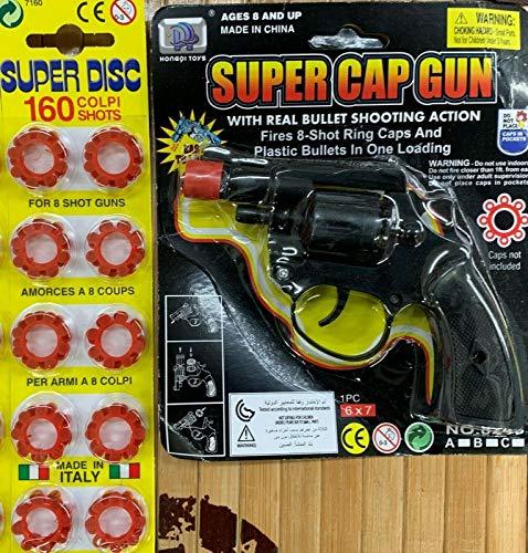 Kids Cap Gun with Caps 160 shots plus gu