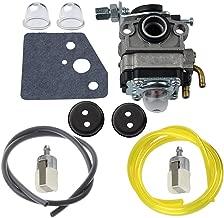 HIPA Carburetor + Primer Bulb Fuel Line Filter Grommet for Honda GX22 GX31 Engine FG100 HHE31C HHT31S UMK431 UMK431K1 String Trimmer Brushcutter