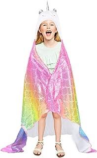 Rainbow Unicorn Blanket Hooded Wearable Plush Throw Blankets for Girls Unicorn Birthday