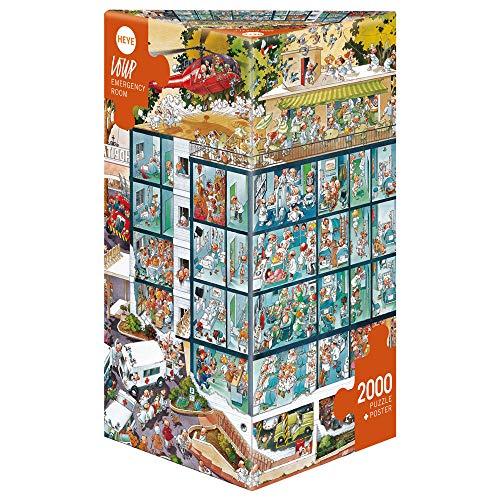 Heye 25784 - Dreieckspuzzles 2000 Teile Emergency Room, Jean-Jacques Loup
