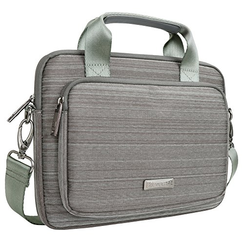 Evecase 9.7 - 10.1 inch Classic Padded Briefcase Messenger Bag with Shoulder Strap and Handle For iPad and Tablets -Gray