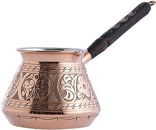 (Copper) - CopperBull THICKEST Solid Hammered Copper Turkish Greek Arabic Coffee Pot Stovetop Coffee Maker Cezve Ibrik Bri...
