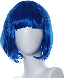 Valentine's Best Party Gifts for Women!!! Hennta Women Mushroom Head Wig Masquerade Small Roll Bang Short Straight Hair Wig(29cm/11.4inch)