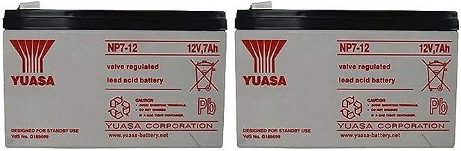 Yuasa NP7-12 12V 7AH Battery (2 Pack)