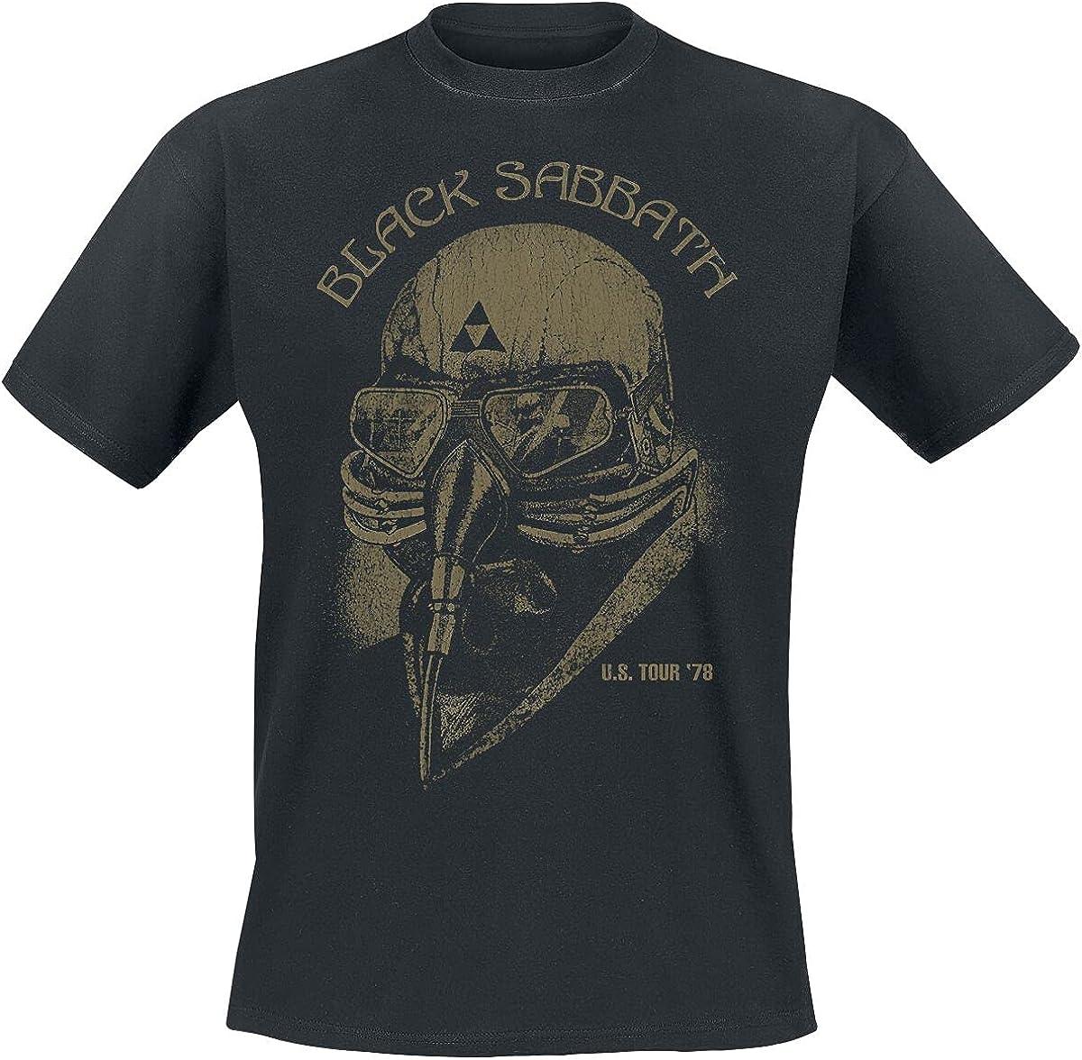 Black Sabbath U.S. Tour '78 Hombre Camiseta Negro, Regular