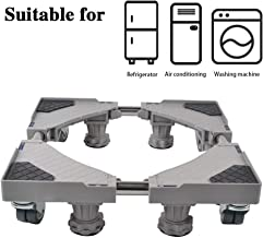 SMONTER - Soporte móvil universal ajustable para secadora, lavadora y refrigerador, 4 ruedas + 4 pies, gris