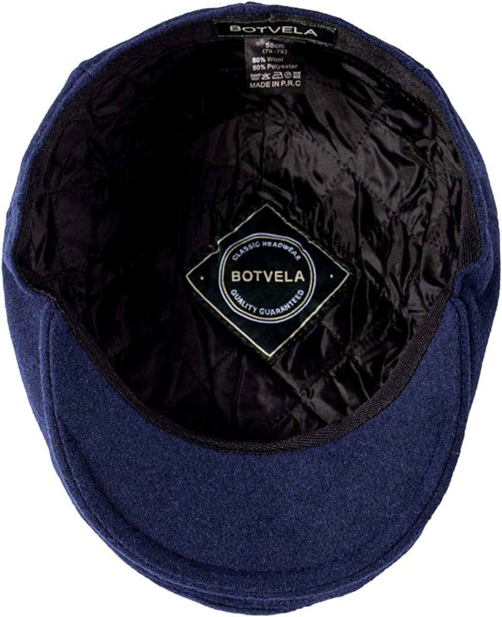 BOTVELA Mens Classic Tweed Cap Wool Blend Newsboy Ivy Hat